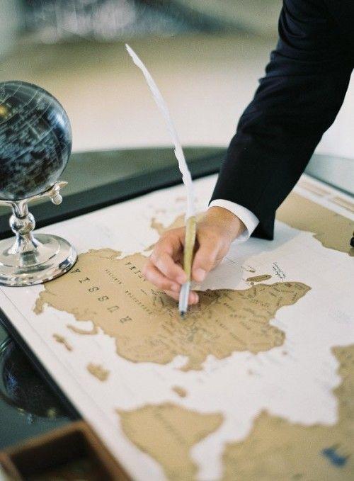 mapa jako księga gości