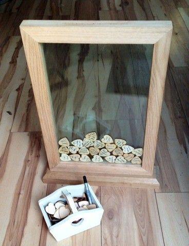 księga gości - ramka z plastrami drewna