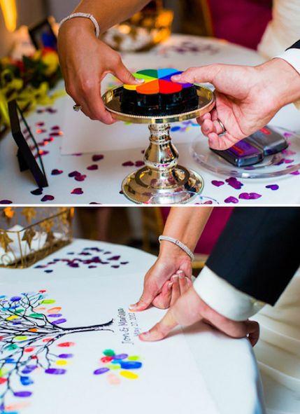 księga gości - odciski palców