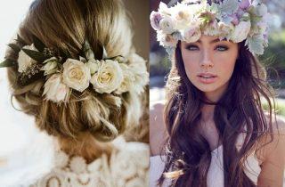 Kwiaty we włosach Panny Młodej - zdjęcie 6
