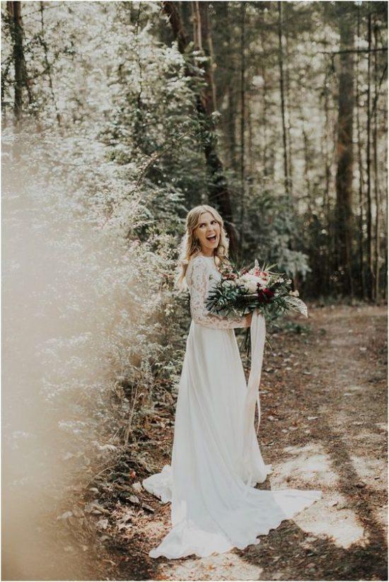 Leśny motyw przewodni na weselu - zdjęcie 7