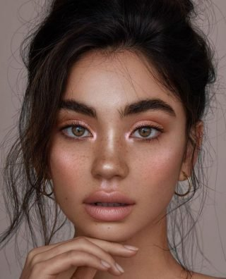 Błyszczący makijaż ślubny oczu