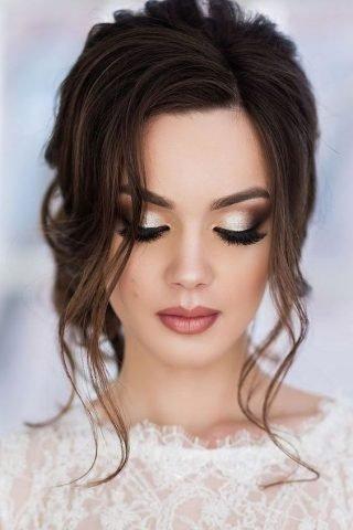 Złoty makijaż ślubny 2020