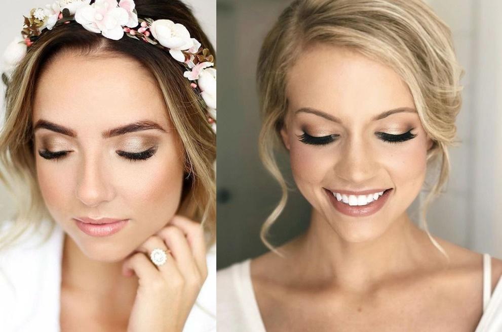 Makijaż ślubny ze złotym akcentem - zdjęcie 2