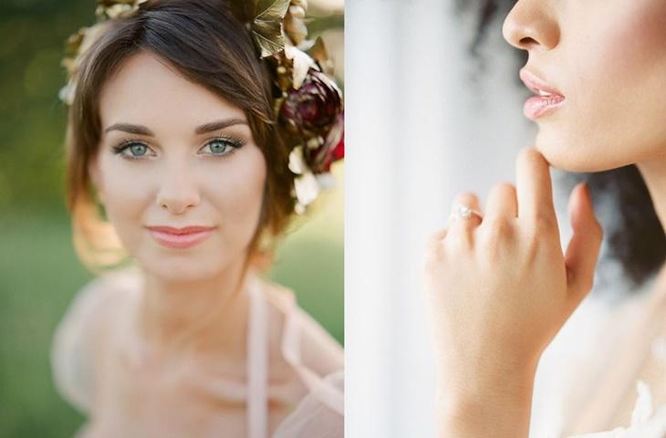 Makijaż ślubny ze złotym akcentem - zdjęcie 7