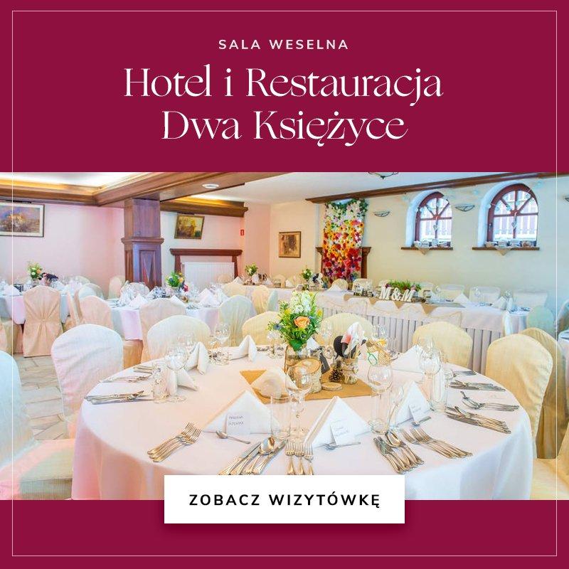 małe sale weselne - Hotel Dwa Księżyce