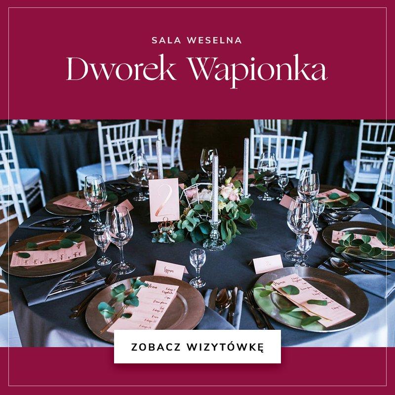 małe sale weselne - Dworek Wapionka