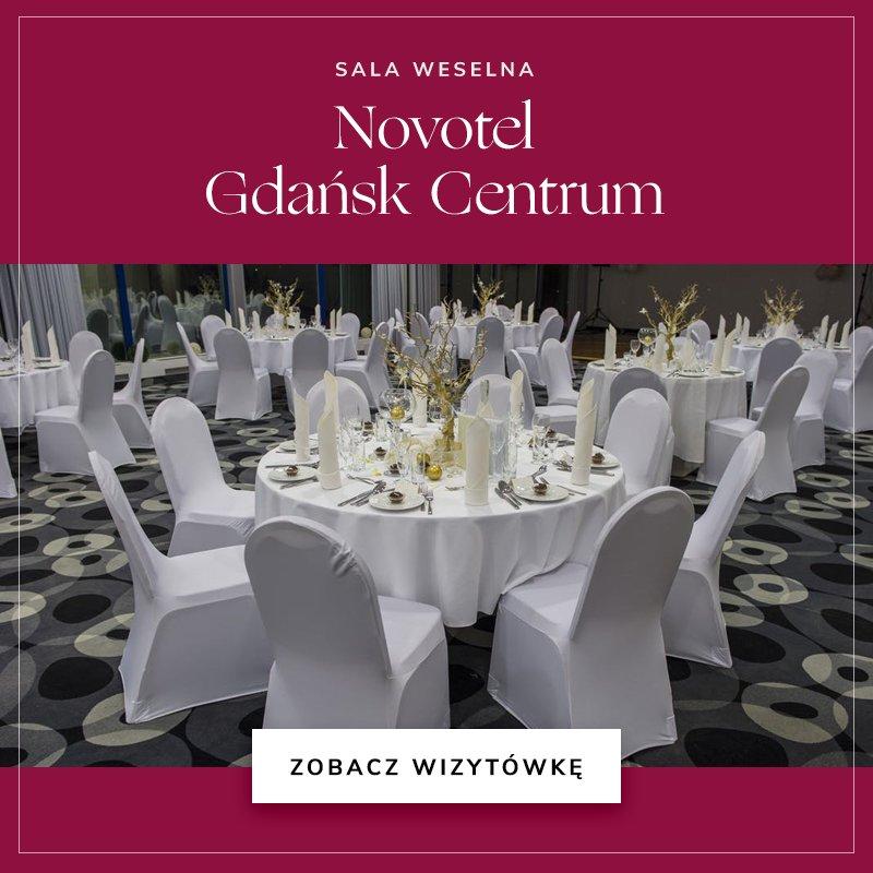 małe sale weselne - Novotel Gdańsk Centrum