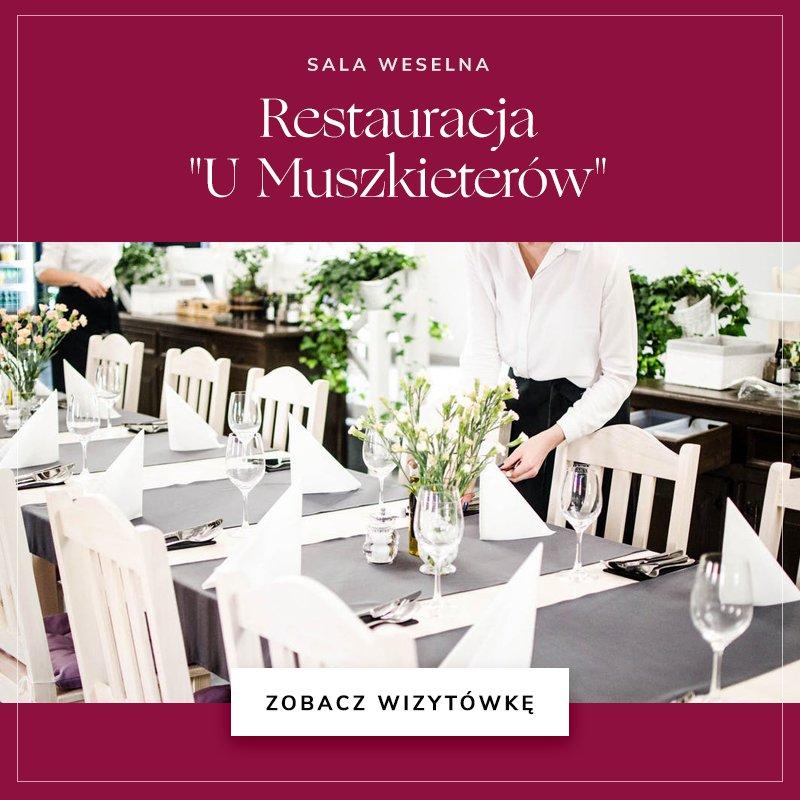 małe sale weselne - Restauracja U Muszkieterów