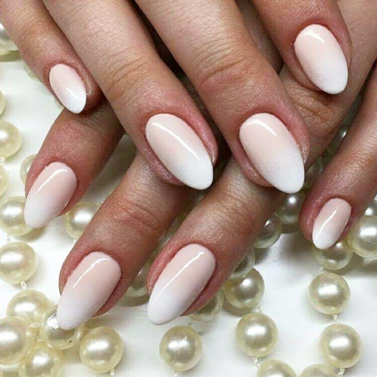 cieniowane paznokcie ślubne