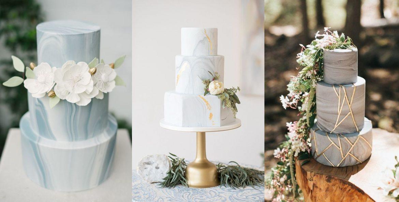 Marmurowe torty weselne - zdjęcie 1