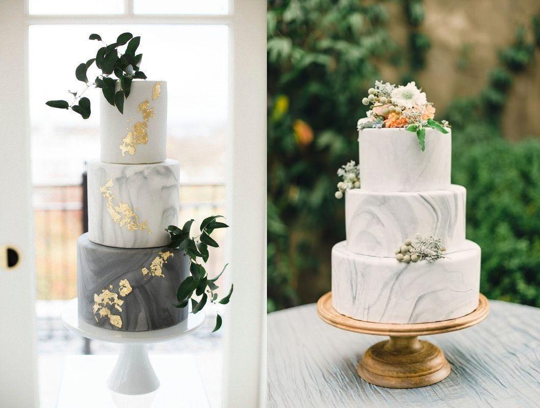 Marmurowe torty weselne - zdjęcie 2