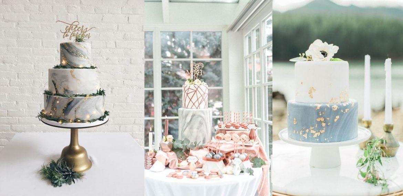 Marmurowe torty weselne - zdjęcie 4