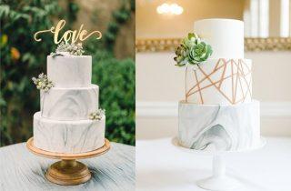 Marmurowe torty weselne - zdjęcie 5
