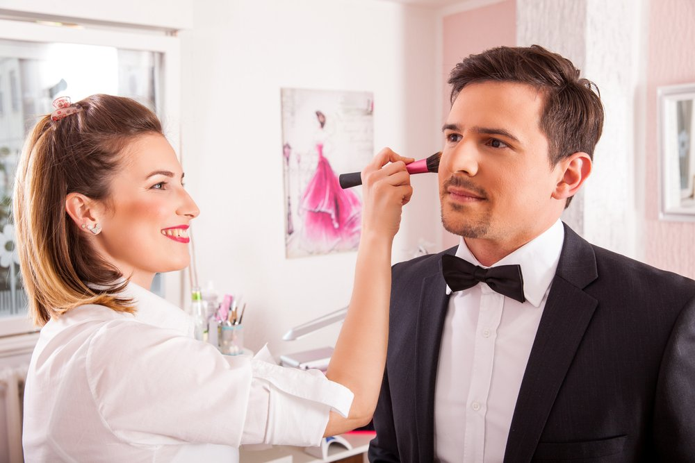 Męski makijaż ślubny dla pana młodego