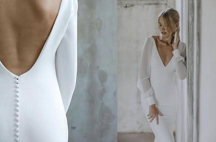 Minimalistyczne suknie ślubne - zdjęcie 2