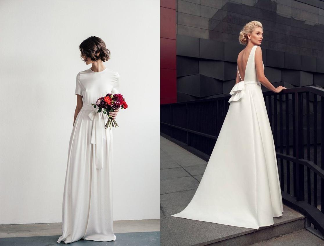 Minimalistyczne suknie ślubne - zdjęcie 3