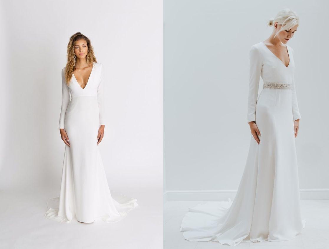 Minimalistyczne suknie ślubne - zdjęcie 4
