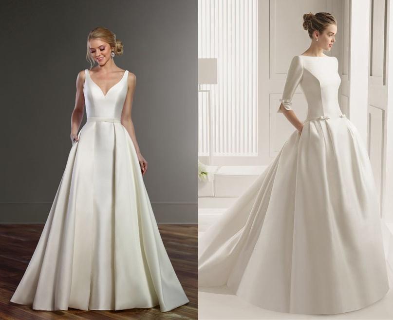 Minimalistyczne suknie ślubne - zdjęcie 6