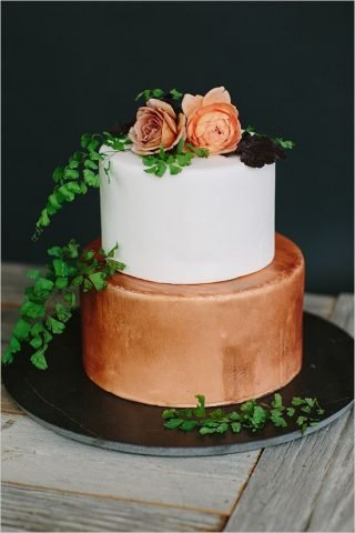 Miedziany tort weselny