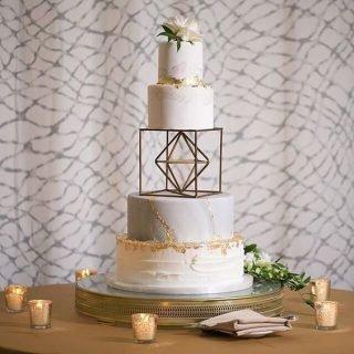 Tort weselny z bryłą