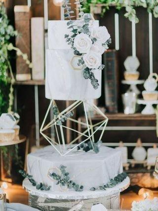 Tort weselny z rzeźbą