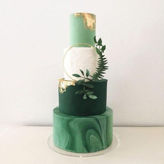 Botaniczny tort weselny