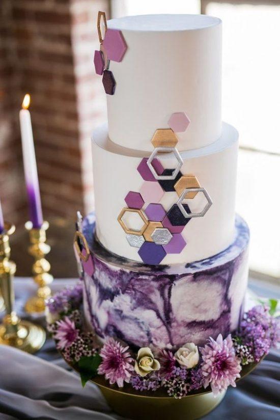 Tort weselny z rombami