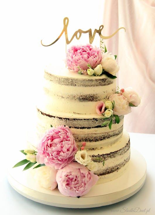 topper na tort weselny