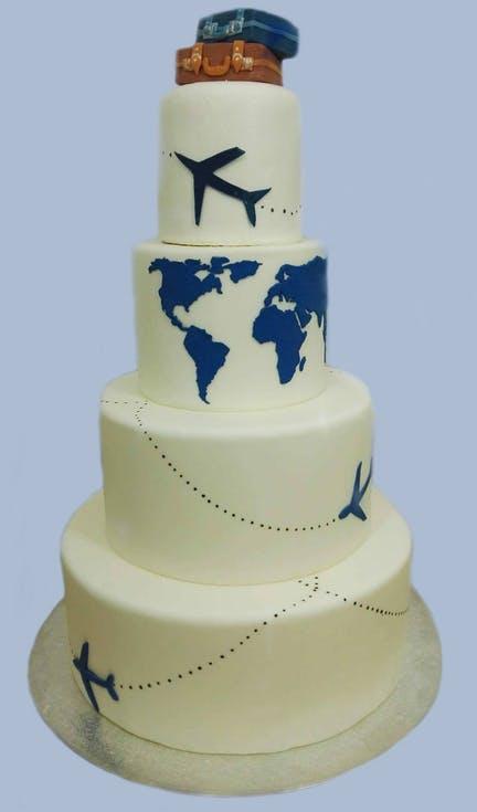 tort weselny dla podróżników