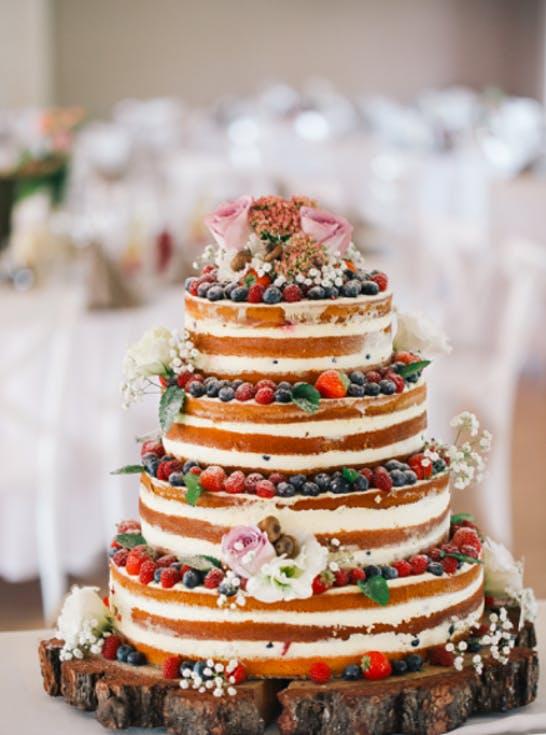 torty weselne naked cake