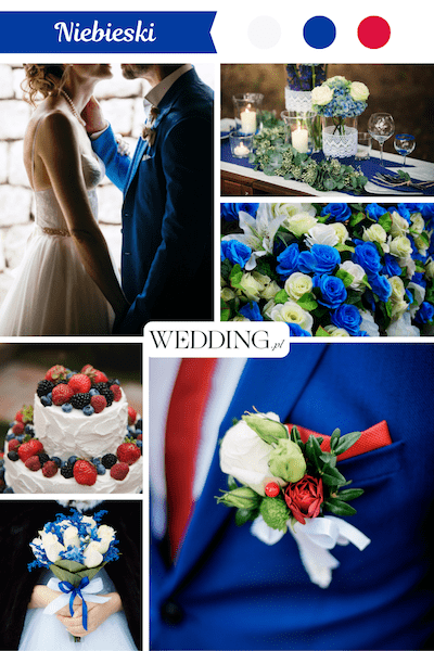 kolor przewodni wesela niebieski