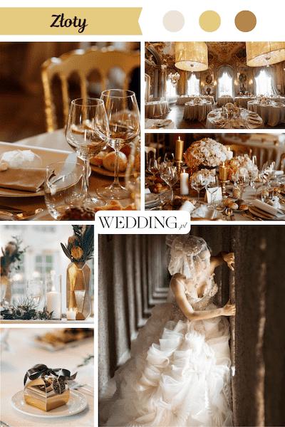 kolor przewodni wesela złoty
