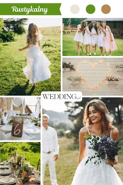 rustykalne wesele motyw