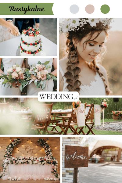 motyw przewodni wesela rustykalne
