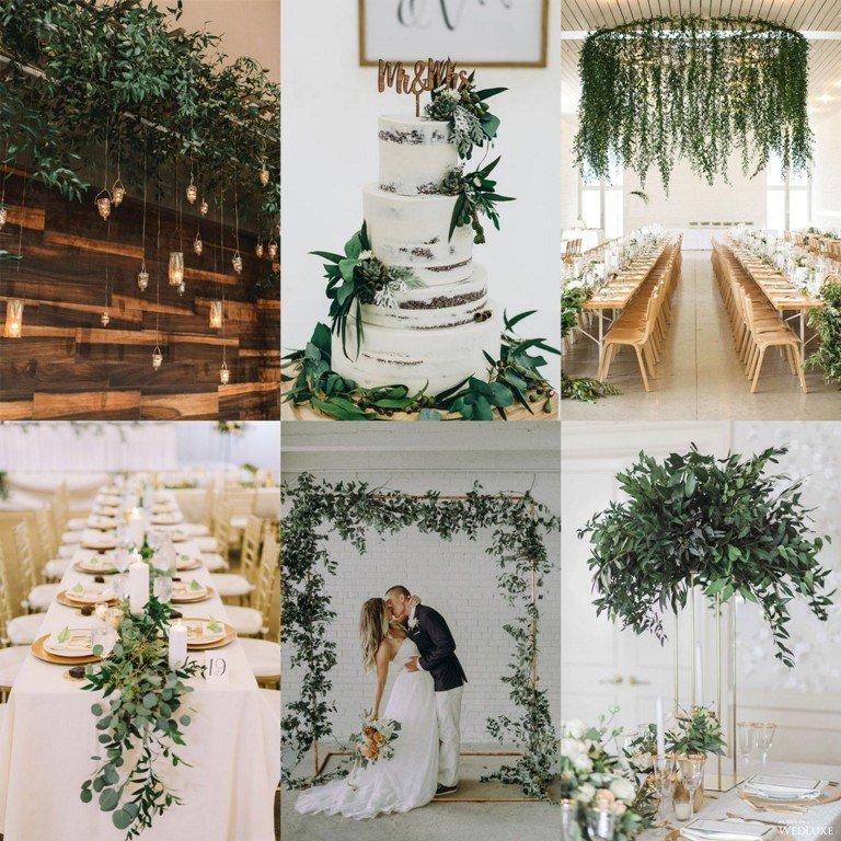 Motyw przewodni wesela greenery