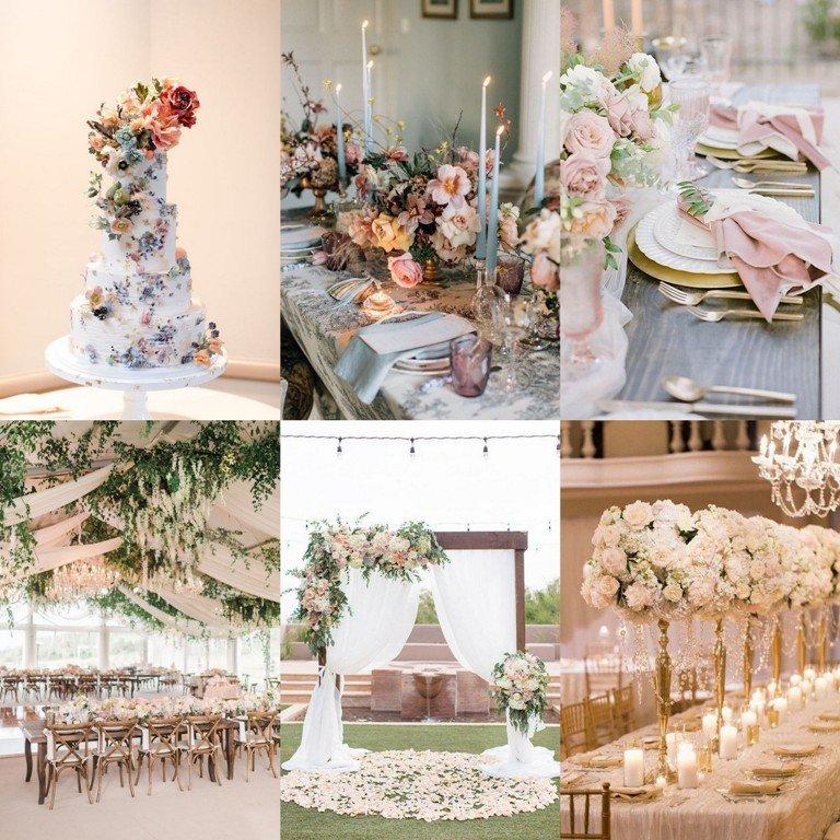 Motyw przewodni wesela - styl romantyczny