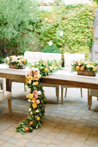Styl wesela z kwiatami