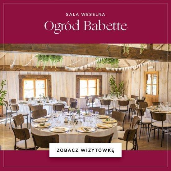 sale weselne w województwie mazowieckim - Ogród Babette