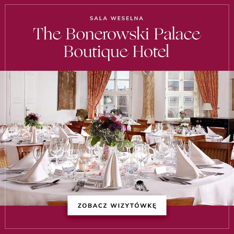 Sala weselna The Bonerowski Palace Boutique Hotel