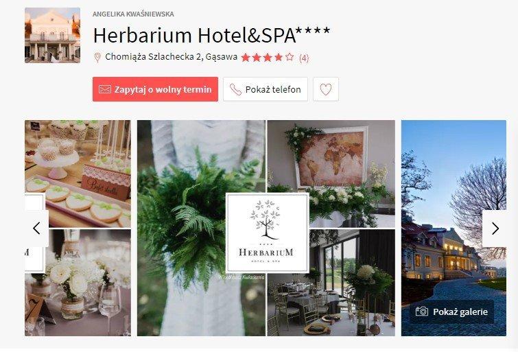 sale weselne w stylu boho - Herbarium Hotel&SPA