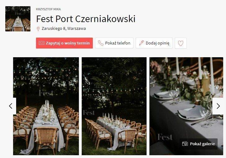 sale weselne w stylu boho - Port Czerniakowski