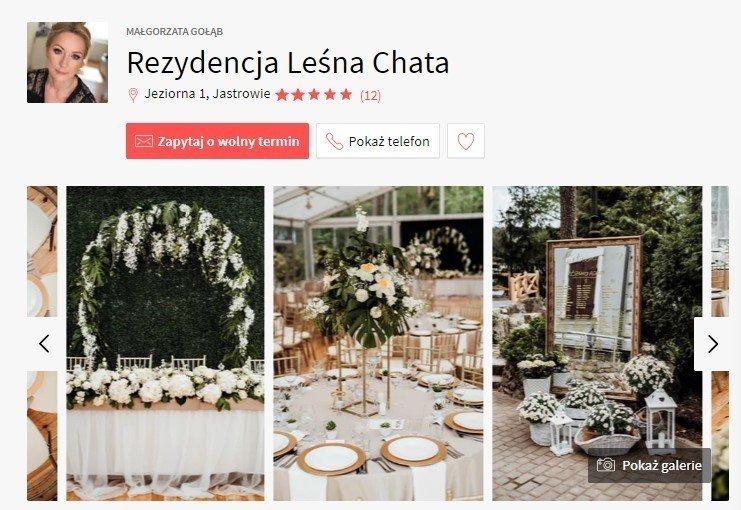 sale weselne w stylu boho - Rezydencja Leśna Chata