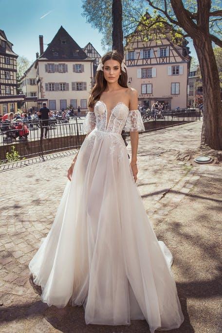 najpiękniejsze suknie ślubne 2020 - Dominiss