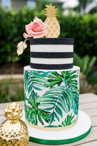 egzotyczny tort weselny