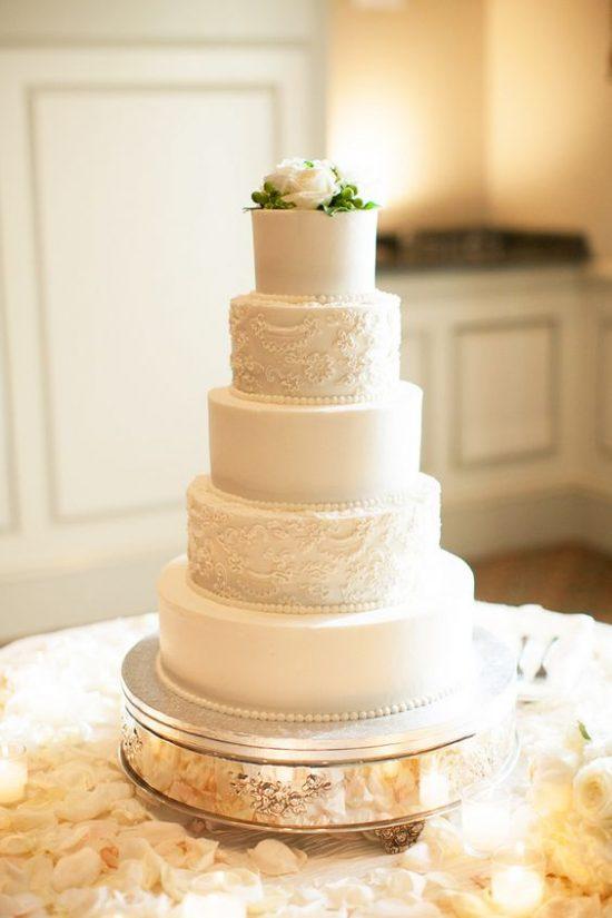 Wysoki tort weselny