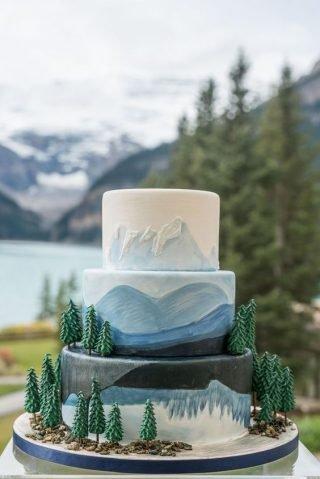morski tort weselny