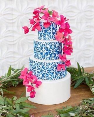 folkowy tort weselny