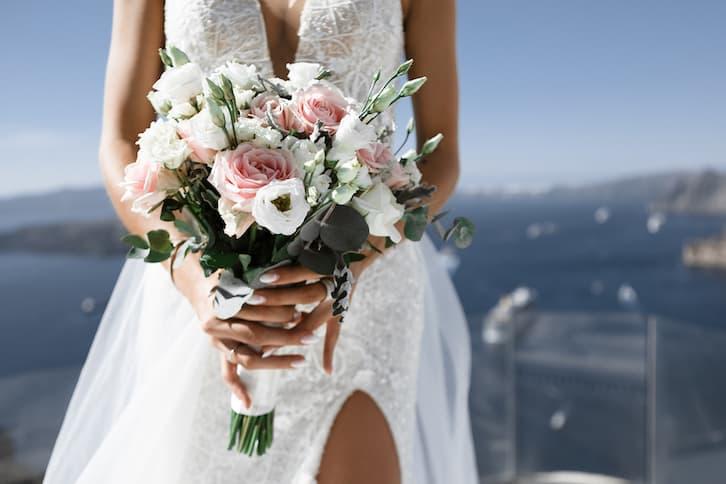 panna młoda bukiet ślub za granicą