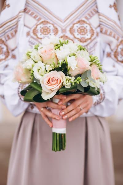 bukiet ślubny ślub za granicą